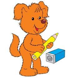 Dog artist vector