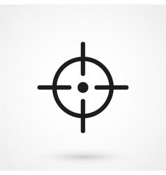 Aim icon black on white background vector