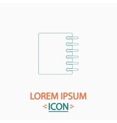 Notepad computer symbol vector