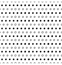 Abstract seamless dotted pattern vector image vector image