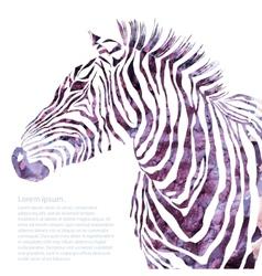 Animal watercolor decorative vector