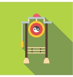 Asian gate icon flat style vector
