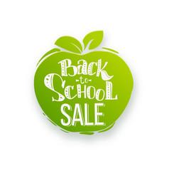 back to school sale on apple shape vector image