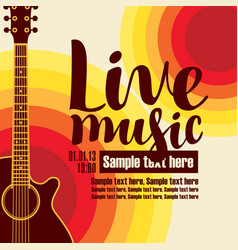 banner for concert live music with a guitar vector image