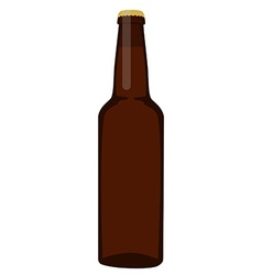 Brown beer bottle vector image vector image