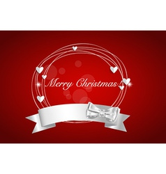 Christmas background with Shiny ribbon vector image vector image