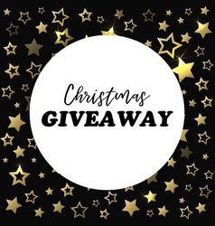 Christmas giveaway banner card for social media vector