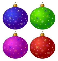 Christmas-tree decorations set vector image