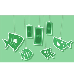 Corruption business and money vector