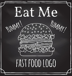 Eat me elements on the theme of the restaurant vector