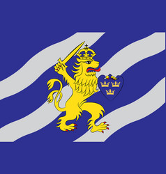 Flag of gothenburg is the second-largest city in vector