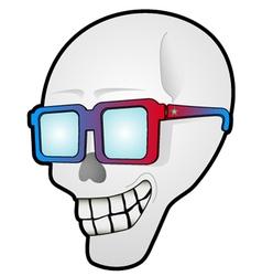 Funny skull head vector