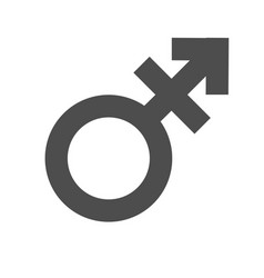 gender inequality and equality icon symbol male vector image vector image