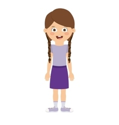 girl standing in front isolated icon design vector image