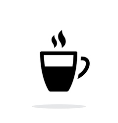 Half coffee cup simple icon on white background vector