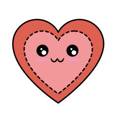 Heart and love kawaii cartoon vector