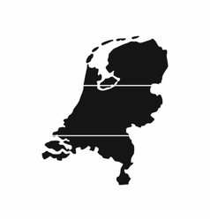 Holland map icon simple style vector image vector image