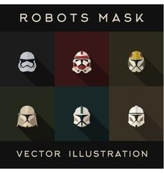 Masks abstract robot helmets vector