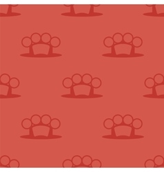 Metal knuckles silhouette seamless pattern vector
