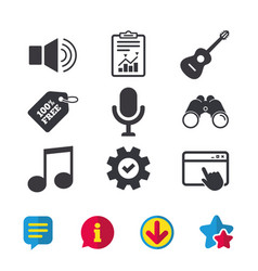 Musical elements icon microphone sound speaker vector