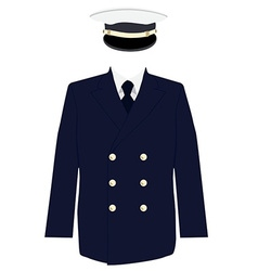 Navy captain uniform vector image vector image