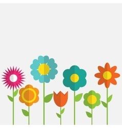 Paper Trendy Flat Flower Set vector image vector image