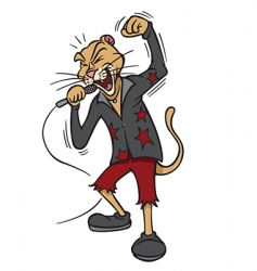 rock star lion vector image vector image