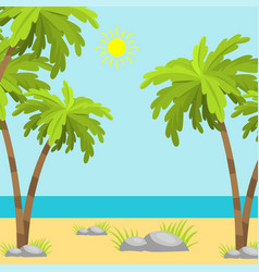 Summer time beach sea shore realistic accessory vector
