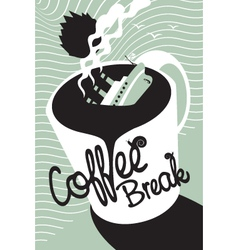 Titanic coffee vector