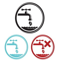 Water tap icons vector