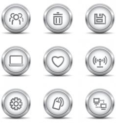 web icons grey vector image vector image