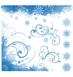 winter items elements vector image
