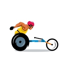 Wheelchair Racing Cartoon vector image