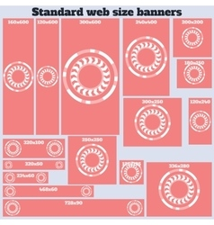 Empty box standard size web banners set vector