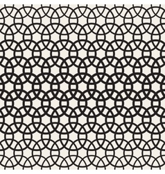 Circle overlapping shapes lattice seamless vector