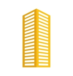 Yellow building line sticker image vector