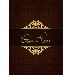 Coffe house menu decorated with floral texture vector image