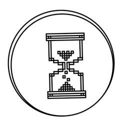 Figure hourglass emblem icon vector