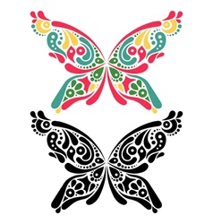 Beautiful butterfly tattoo vector