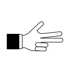 Hand counting with three fingers out icon image vector