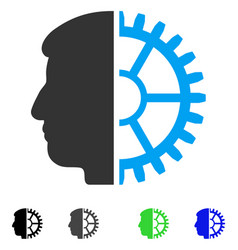 Android head flat icon vector