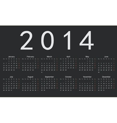 Simple european 2014 year calendar vector