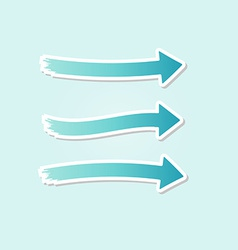 Three different blue arrows vector