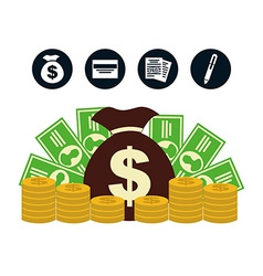 Money concept vector