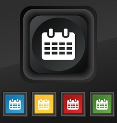 Calendar date or event reminder icon symbol set of vector