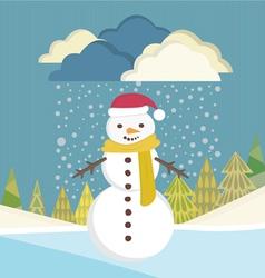 Snowman background vector