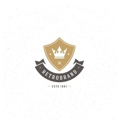 King crown logo template design element vector