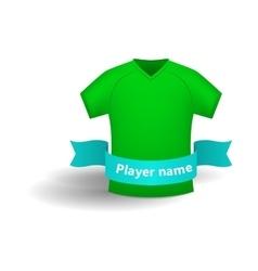 Green sports shirt icon cartoon style vector image