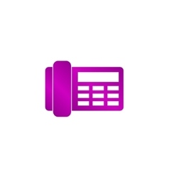 Phone icon flat design style vector