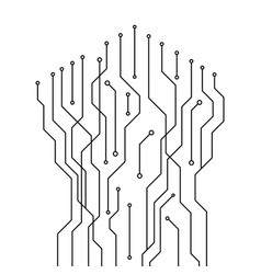 abstract circuit digital technology vector image vector image